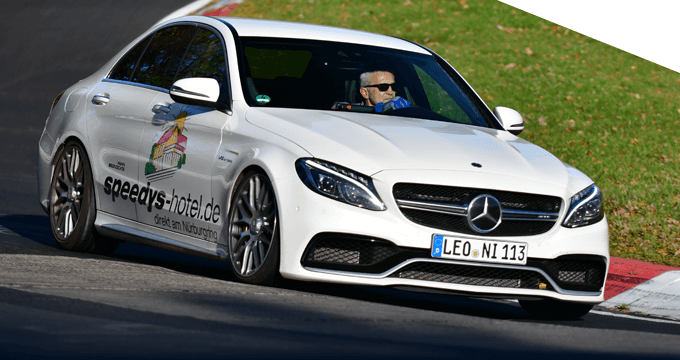 Der C63 in Aktion